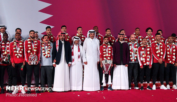 استقبال قطری ها از تیم ملی کشورشان