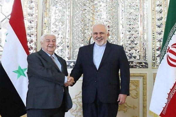 Syrian, Iranian FMs hold talks in Tehran