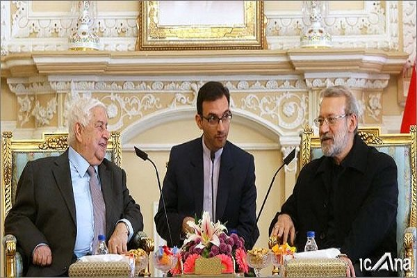 Parl. speaker Larijani holds talks with Syrian foreign minister