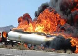 جزئیات انفجار تانکر سوخت در خرم آباد/ یک سرباز شهید شد و یک افسر در کما است