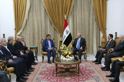 Iraq's political leadership supports banking agreements with Iran: Pres. Salih