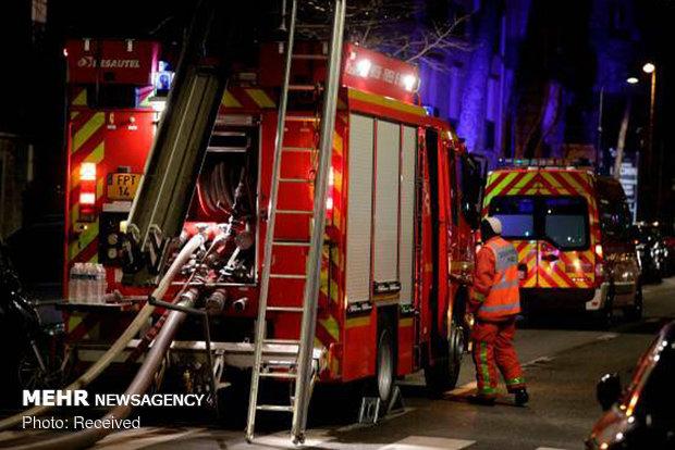 آتش سوزی در آپارتمانی در پاریس