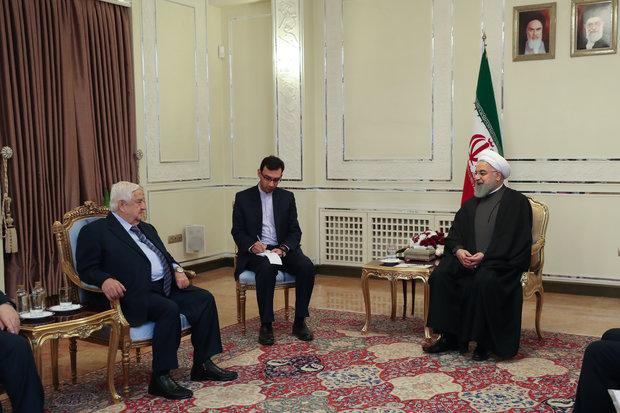 روحاني: أمن واستقرار سوریا من اهم اهداف إیران في المنطقة