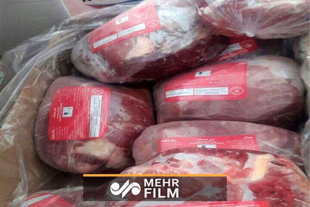کشف  ۱۷۰ تن گوشت یخی در سردخانه بی نام و نشان