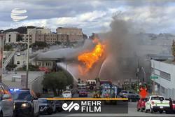 انفجار خط لوله گاز در آمریکا