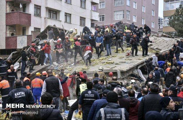 فروریختن ساختمان در استانبول