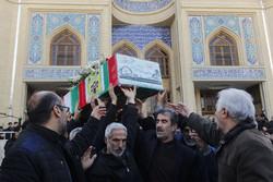 مراسم تشییع پیکر مطهر دو شهید دفاع مقدس در تبریز