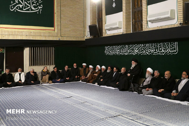 Leader attending Hazrat Fatemeh (SA) mourning ceremony