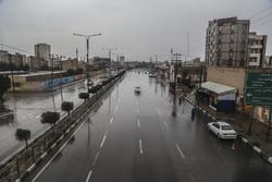 ترافیک نیمه سنگین در محور کرج-تهران/برخی محورها بارانی است