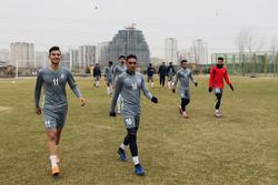 تصاویری از تمرین امروز تیم فوتبال امید با ۱۱ بازیکن
