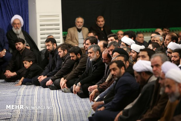 Hazrat Fatimah (SA) mourning ceremony with Leader in attendance
