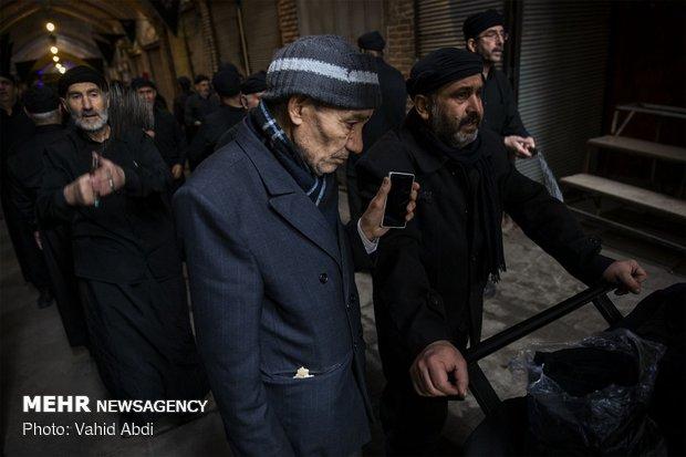 Mourning ceremony of Hazrat Fatemeh (SA) in Tabriz bazaar