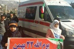 حضور اورژانس البرز با ۳۰ دستگاه آمبولانس در راهپیمایی ۲۲ بهمن