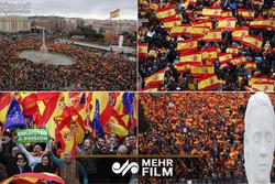 تظاهرات گسترده علیه محاکمه جداییطلبها در اسپانیا
