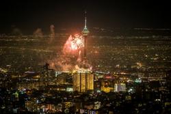 نورافشانی تهران در جشن ۲۲ بهمن