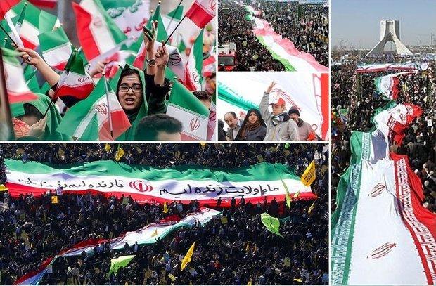 شعاع تردد مسیرهای راهپیمایی ۲۲ بهمن در مازندران افزایش یافت