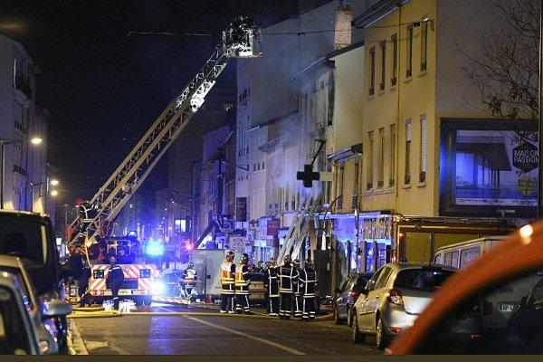 انفجار در لیون فرانسه