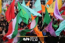 بخشی از راهپیمایی ۲۲ بهمن در تهران