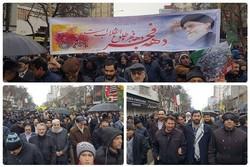 تاریخ تکرار شد؛ جشن پیروزی و ۴۰ سالگی انقلاب در برف اردبیل