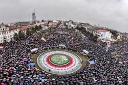 مسيرات 11 شباط في المحافظات الإيرانية /صور