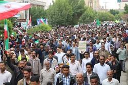 راهپیمایی مردم قزوین در حمایت از بیانیه «شورای عالی امنیت ملی»