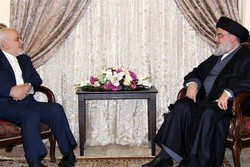Zarif holds meetings with Hezbollah leader, Lebanese officials