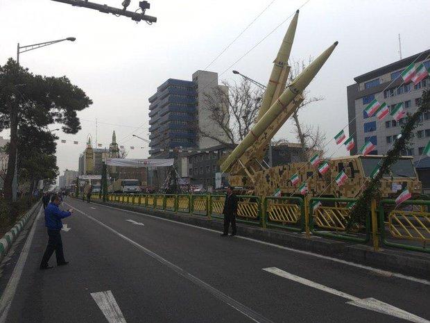 نمایش اقتدار موشکی ایران در راهپیمایی ۲۲ بهمن