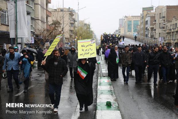 راهپیمایی ۲۲ بهمن در ۴۰ سالگی انقلاالاحتفالات الجماهيري في طهران بالذكرى الأربعين للثورة الإسلامية ب