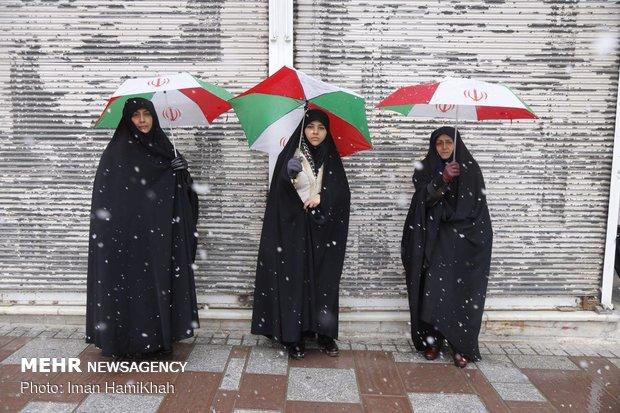 راهپیمایی ۲۲ بهمن در همدان