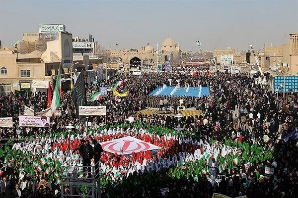 Yazd halkı İslam Devrimi Zafer Günü'nü kutladı
