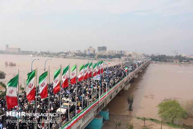 خوزستان جزء استانهای اول کشور در زمینه حضور در راهپیماییها است