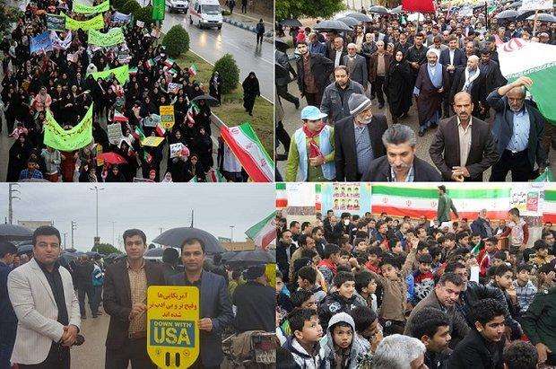 نقاط مختلف استان بوشهر صحنه حضور حماسی مردم شد