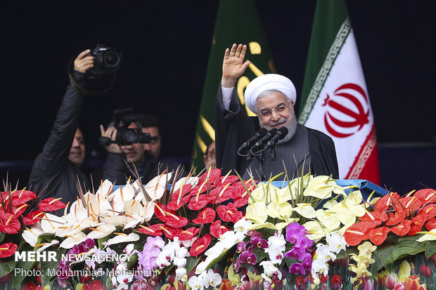 Pres. Rouhani addresses participants at Feb. 11 rallies