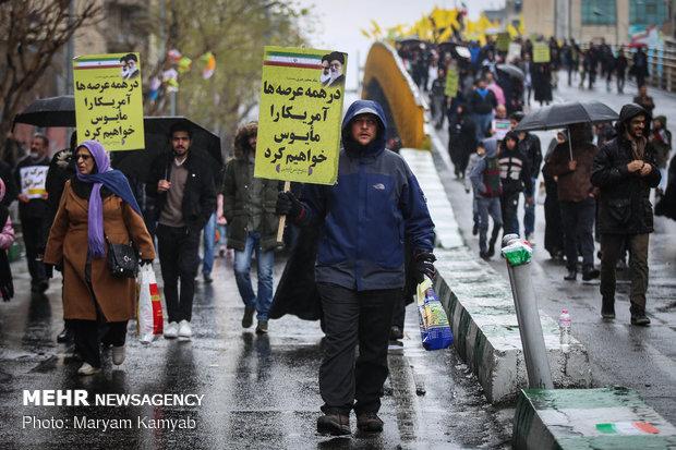 راهپیمایی ۲۲ بهمن در امنیت کامل برگزار شد