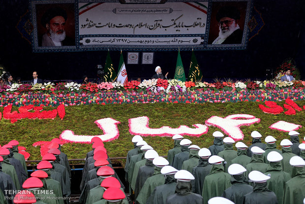 Rouhani addresses participants at Feb. 11 rallies