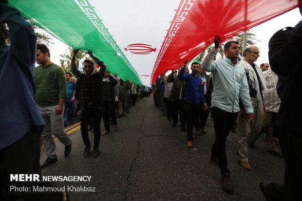 راهپیمایی ۲۲ بهمن در کیش