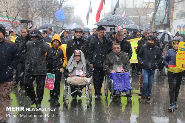 11 Şubat yürüyüşlerinden kareler