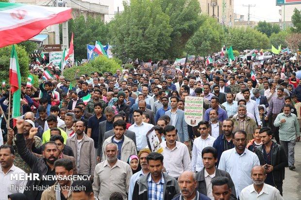 راهپیمایی ۲۲ بهمن در میناب