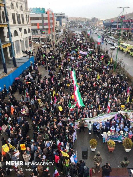 راهپیمایی ۲۲ بهمن در پردیس تهران / عکاس: طیبه دادره