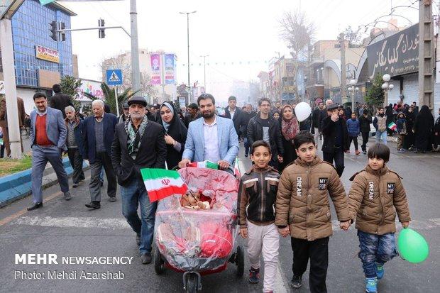 راهپیمایی ۲۲ بهمن در ورامین