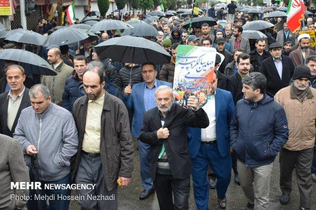 راهپیمایی ۲۲ بهمن در آستارا