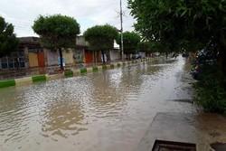 ثبت بارش ۱۲۵ میلیمتری در منطقه چاه پازنان دشتروم شهرستان بویراحمد