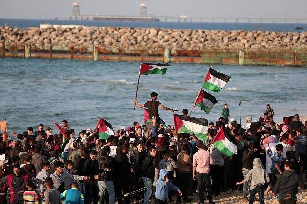 برگزاری بیست و سومین راهپیمایی دریایی در غزه