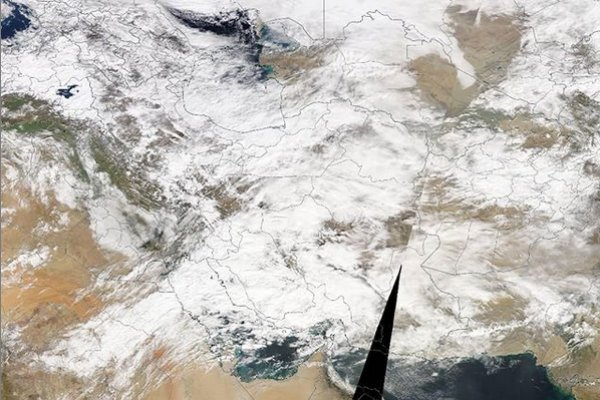 تصویر ماهوارهای پوشش برف در کشور/ بیشترین بارش در خراسان رضوی