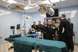 افتتاح قسم القلب والاطفال لمسشفى تابع للقوة البحرية الايرانية / صور