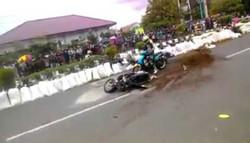 انڈونیشیا میں ریس کے دوران کئی بائیکس حادثے کا شکار