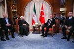 سوچی اجلاس کے ضمن میں صدر روحانی اور صدر اردوغان کی ملاقات