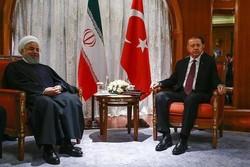 Ruhani Türk mevkidaşı Erdoğan ile görüştü