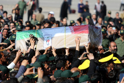 تشييع جثامين شهداء الهجوم الارهابي في مدينة زاهدان / فيديو