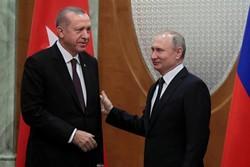 گفتگوی تلفنی پوتین و اردوغان